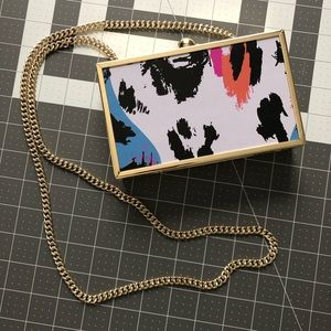 & other stories frame box crossbody chain bag